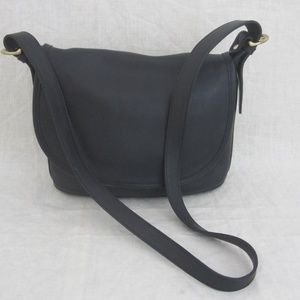 COACH black leather cross body shoulder handbag